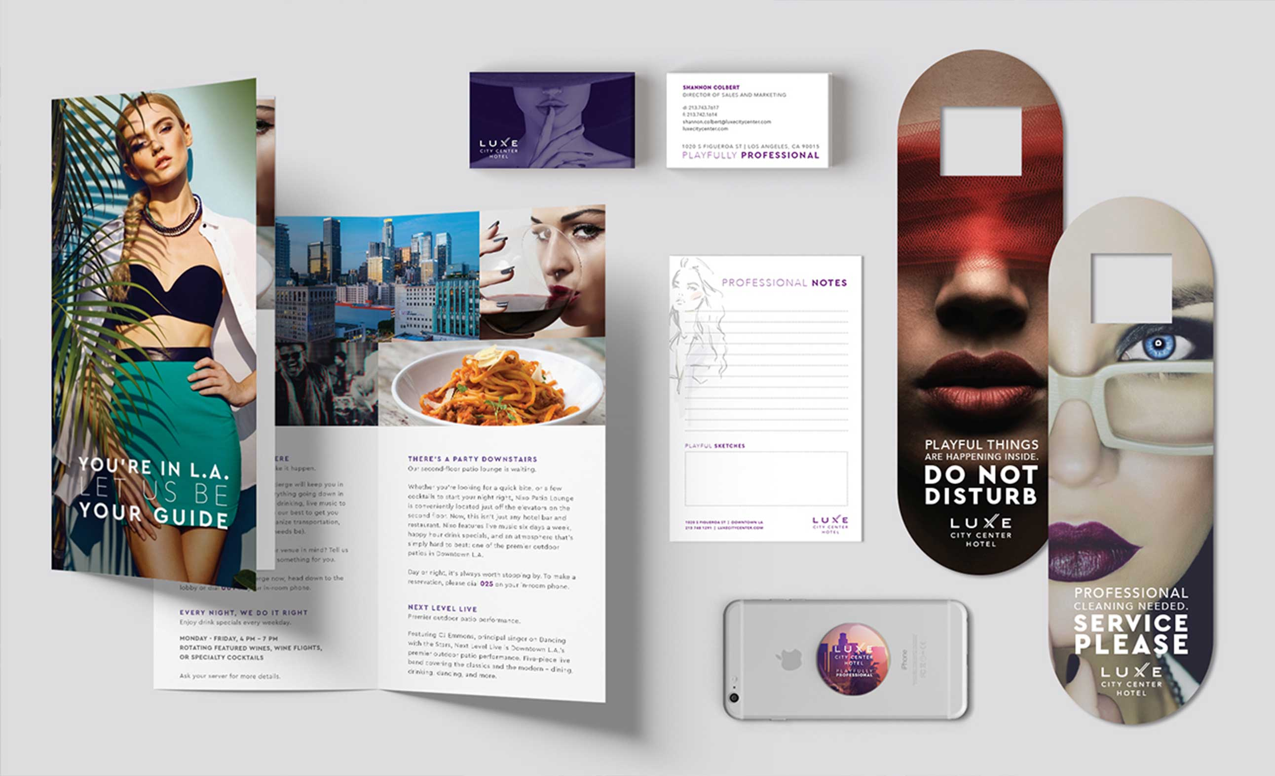 Hotel collateral designs