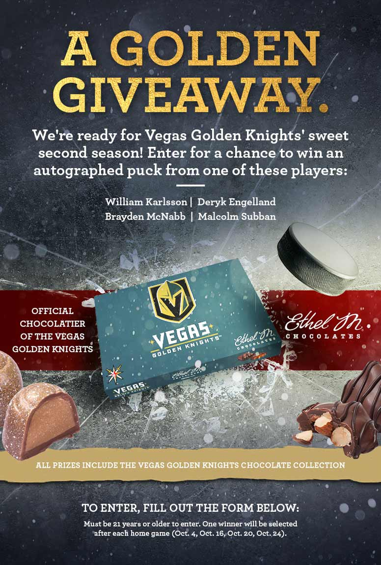A Golden Giveaway. Alternate design for hockey content promotion.